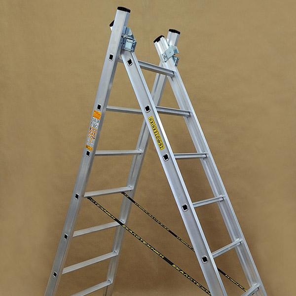 Επαγγελματική σκάλα αλουμινίου δύο τεμαχίων